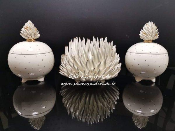 Keramikinė dėžutė koralo tema