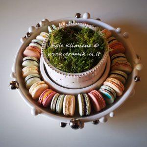 Keramikinis dekoruotas indas