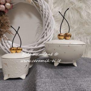 Kramikinė dėžutė su vyšniomis