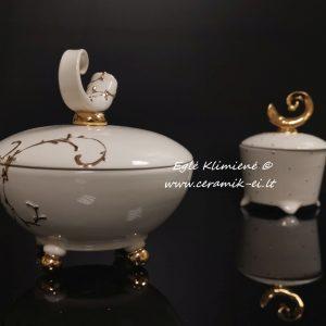 Keramikinės dėžutės su amžinybės simboliu