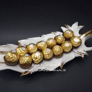 Keraminė saldaininė Plunksna su saldainiais