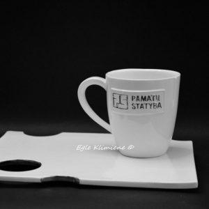 Keraminis puodelis su užrašu