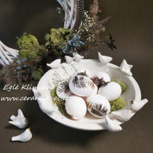 Keramikinis dubenėlis su paukšteliais